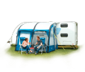 Royal Wessex Air 260 Inflatable Caravan Porch Awning with FREE Luxury Breathable Awning Carpet, Caravan Motorhome Campervan Awning - Grasshopper Leisure